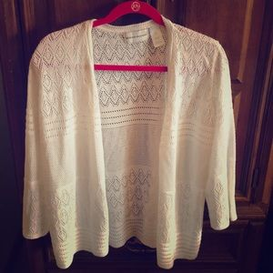 Alfred Dunner White Cardigan